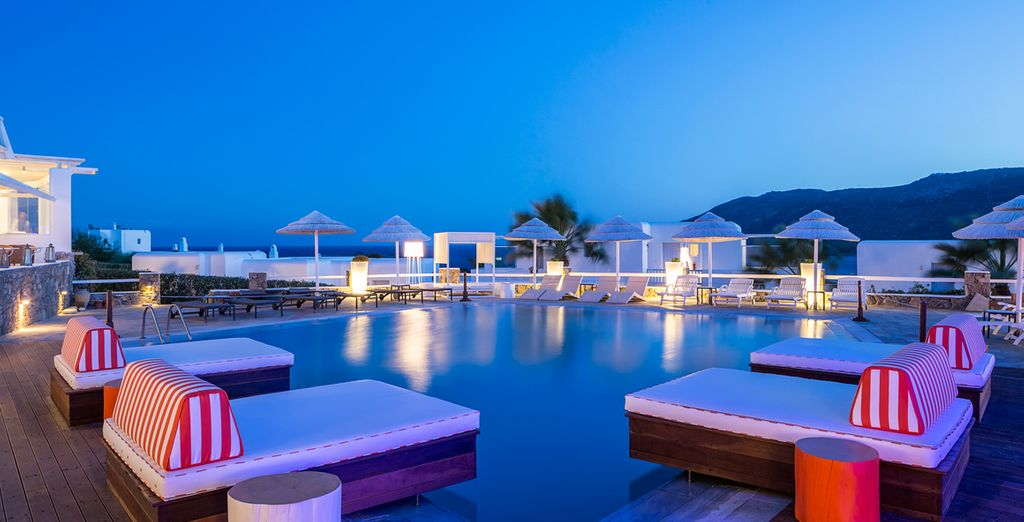 Or enjoy a sundown cocktail by the pool