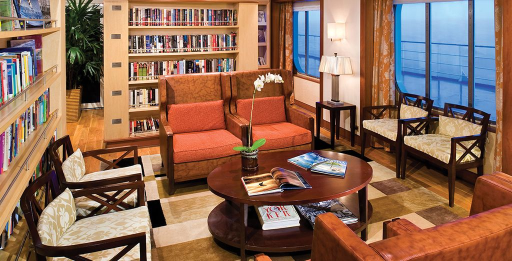 After a day of sightseeing, relax in the library or one of the lounges