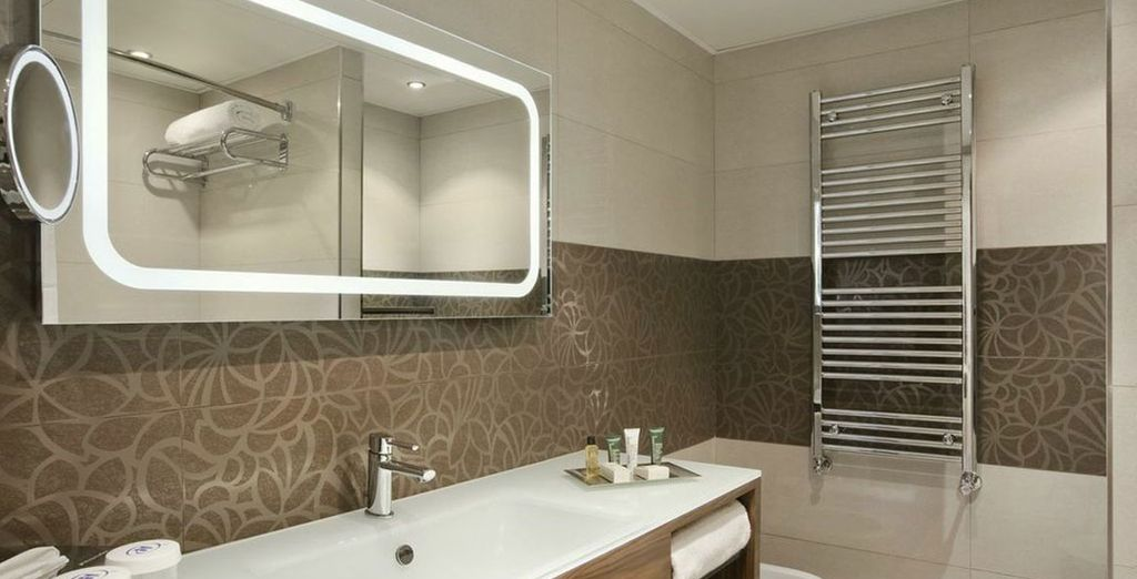 With modern ensuite