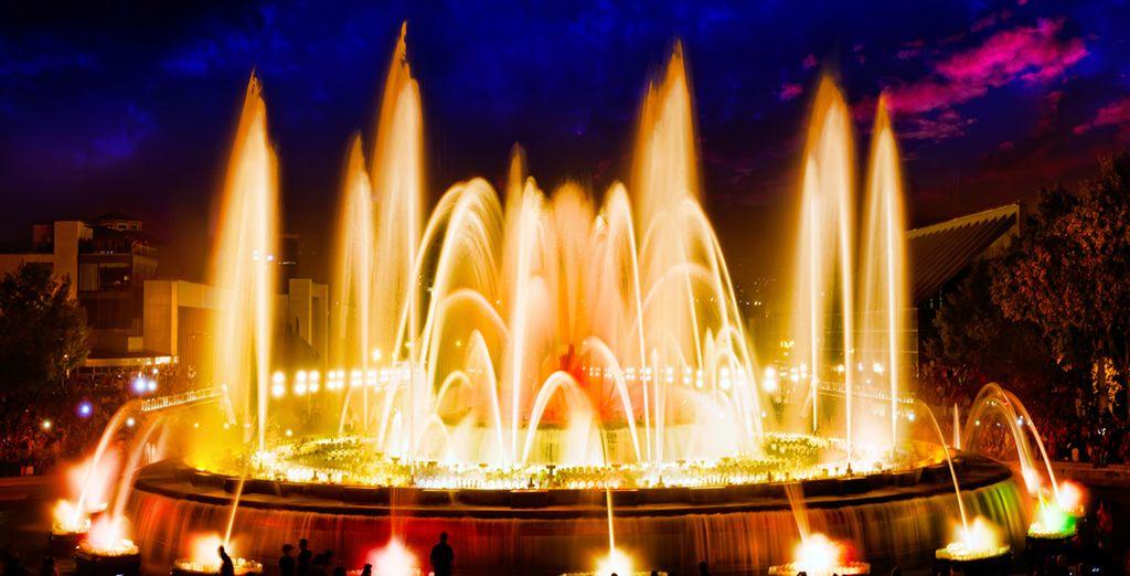 Don't miss the fountain light show of Montjuïc