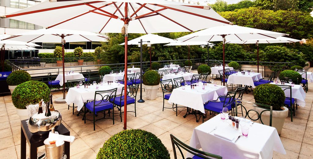 Or a glass of wine on the terrace if the sun is shining
