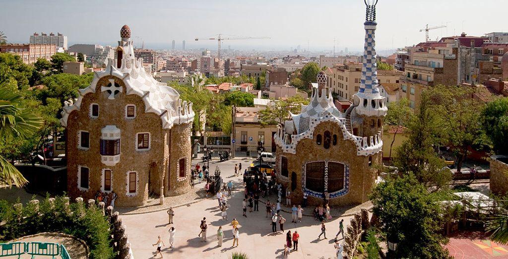Take in the magnificent Gaudi architecture