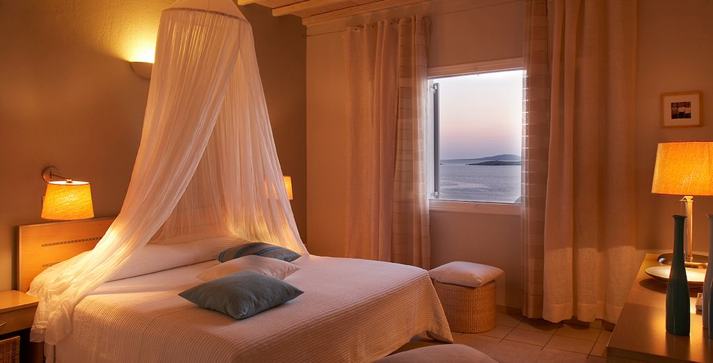 Enjoy sea views from your superior room