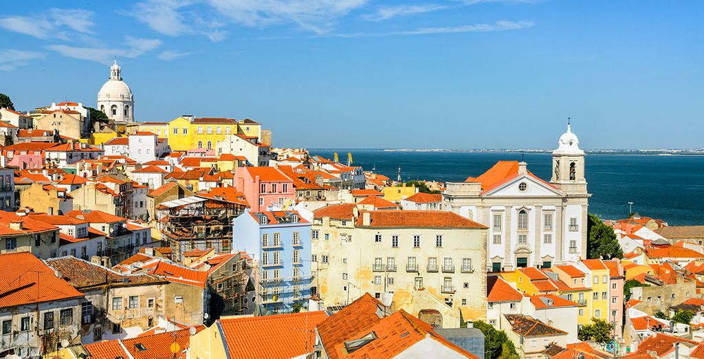 Be charmed by the colourful facades of Lisbon's houses