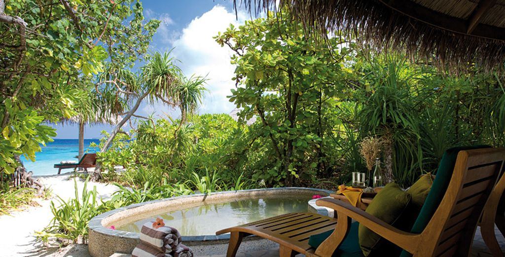 Complete with private fresh-water plunge pool