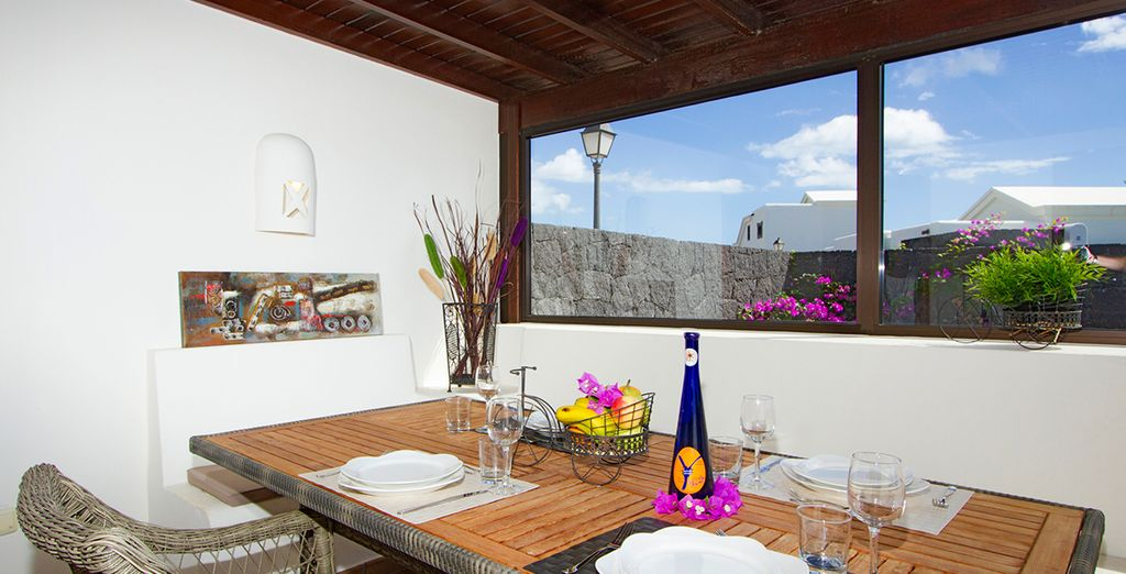 Or prepare meals to enjoy on your terrace