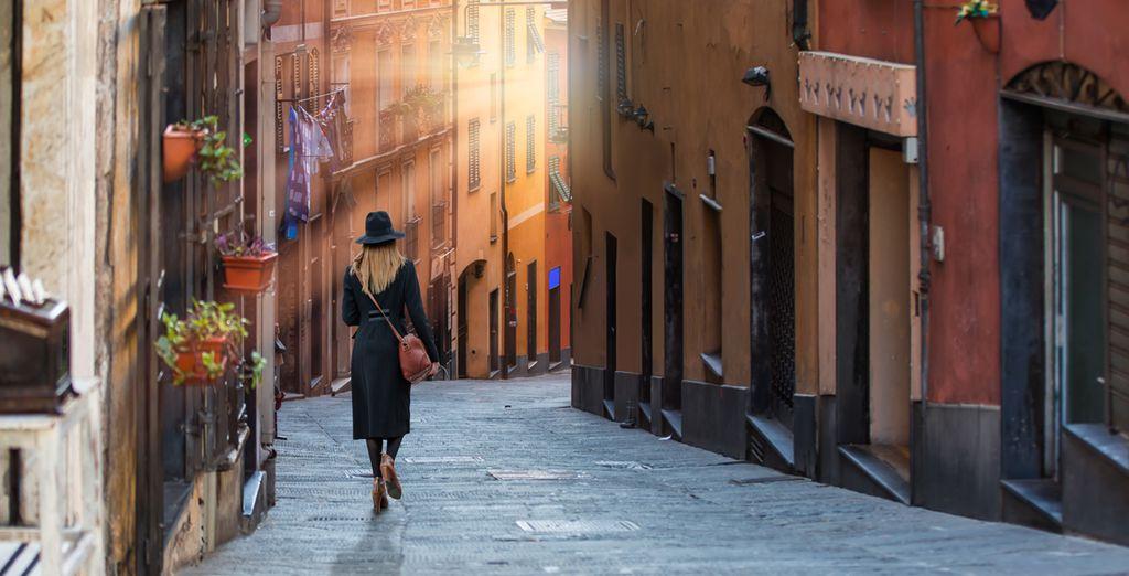 Roam the winding streets of Genoa