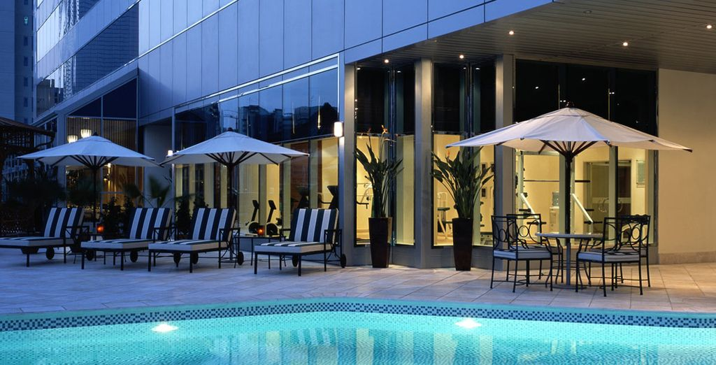 Unwind in the sparkling pool