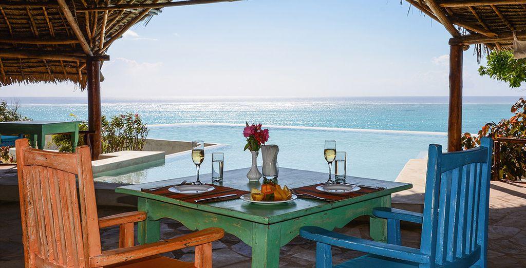 Overlooking the turquoise Indian Ocean