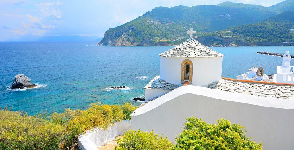 Escape to the beautiful island of Skopelos