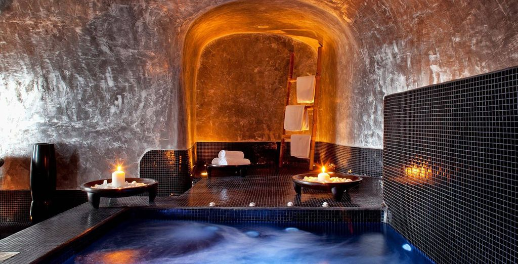 Head to the intimate spa