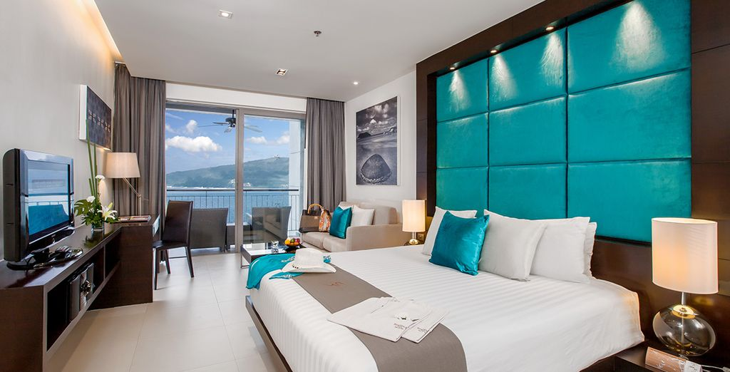 Our members can enjoy a sea view studio