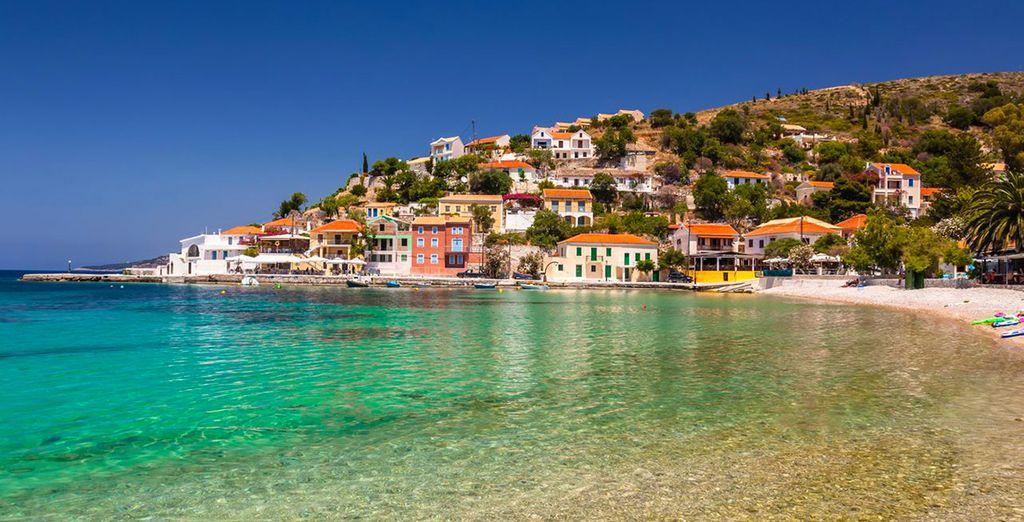 On the beautiful Greek island of Kefalonia