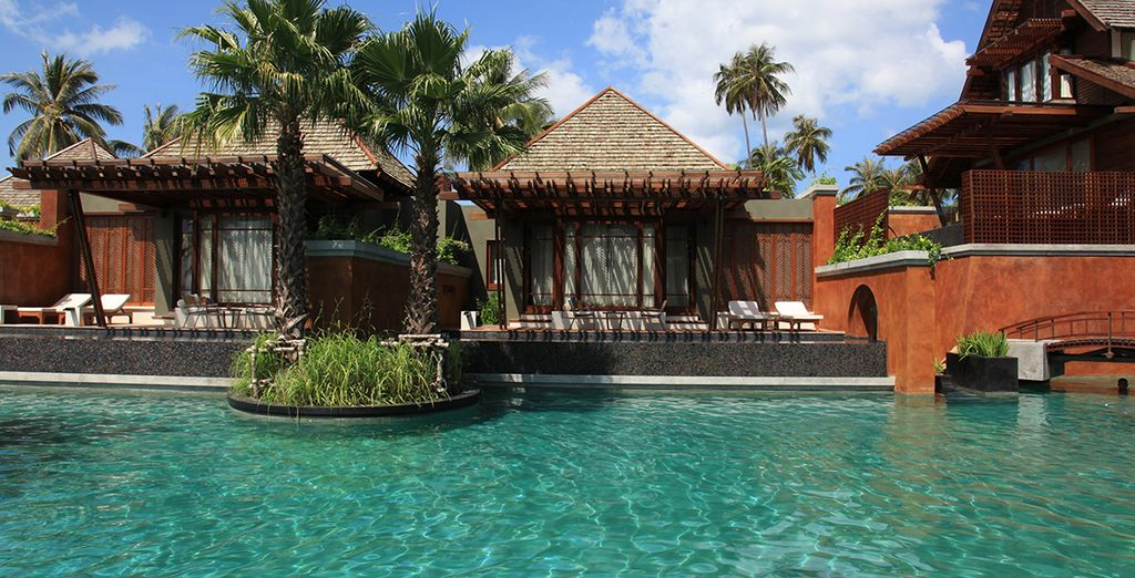 The resort is designed with traditional Thai architecture