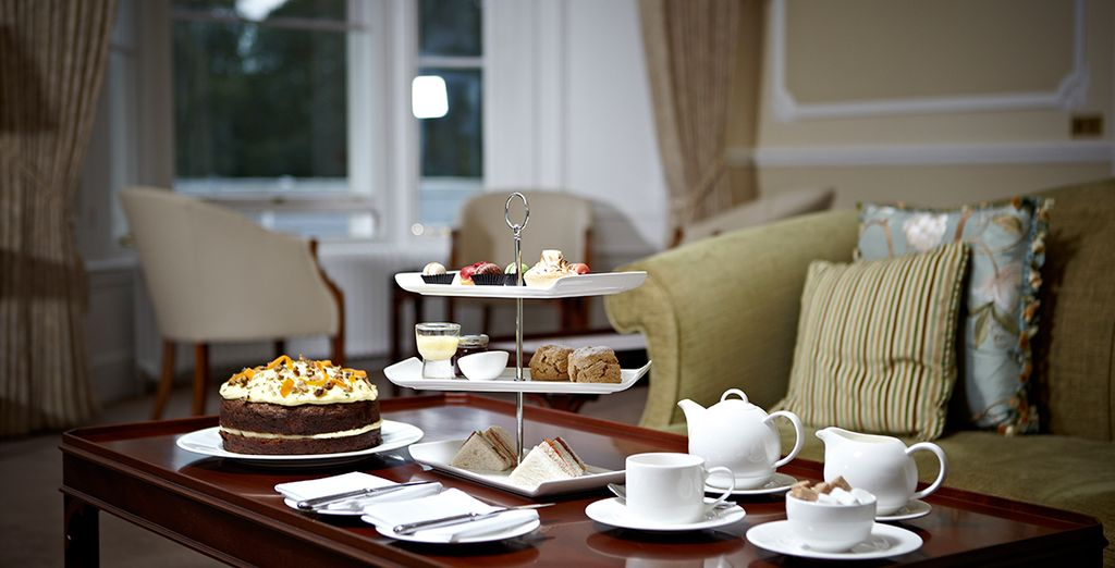 Indulge in a complimentary afternoon tea
