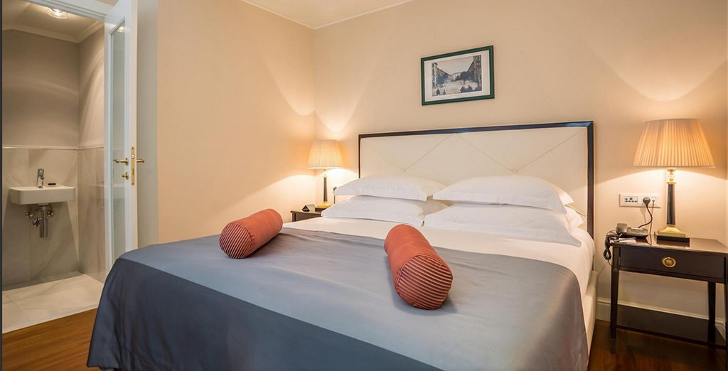 Our members can choose from a Superior Double Room with City View...
