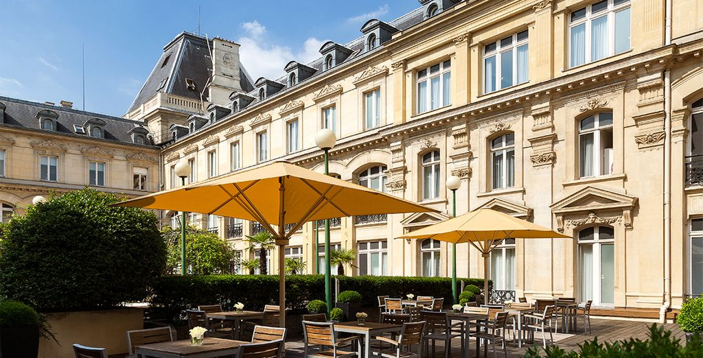 Stay within a classic Parisien building
