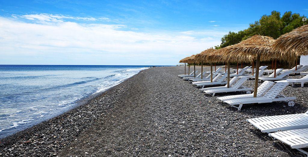 Black sand beaches...