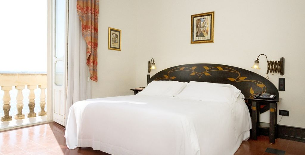Our members will enjoy a stay in a comfortable Deluxe Sea View Room