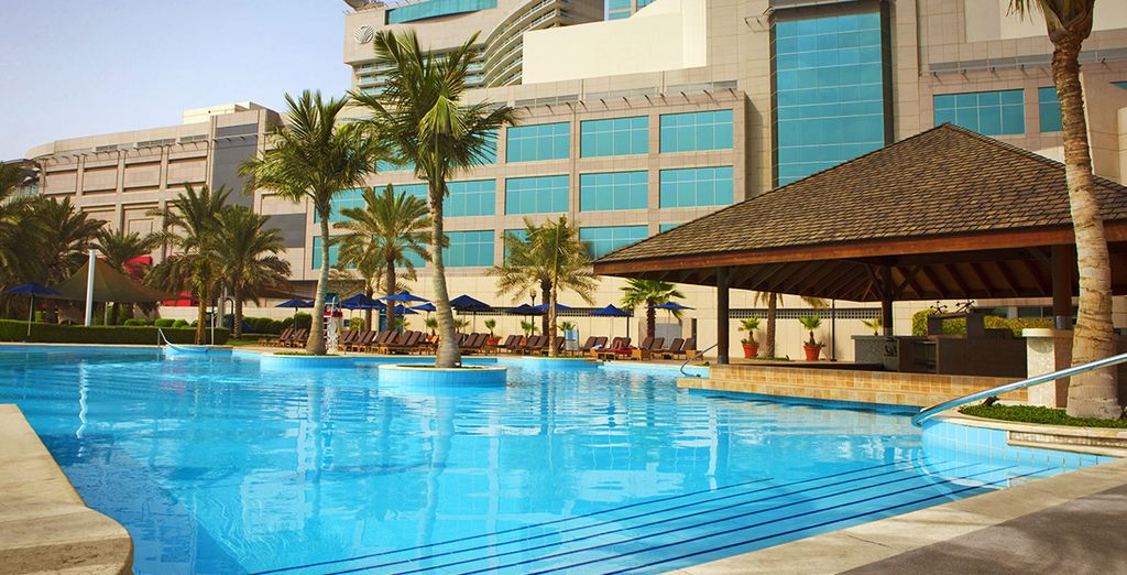 Cool off from the Arabian sun by the pool...