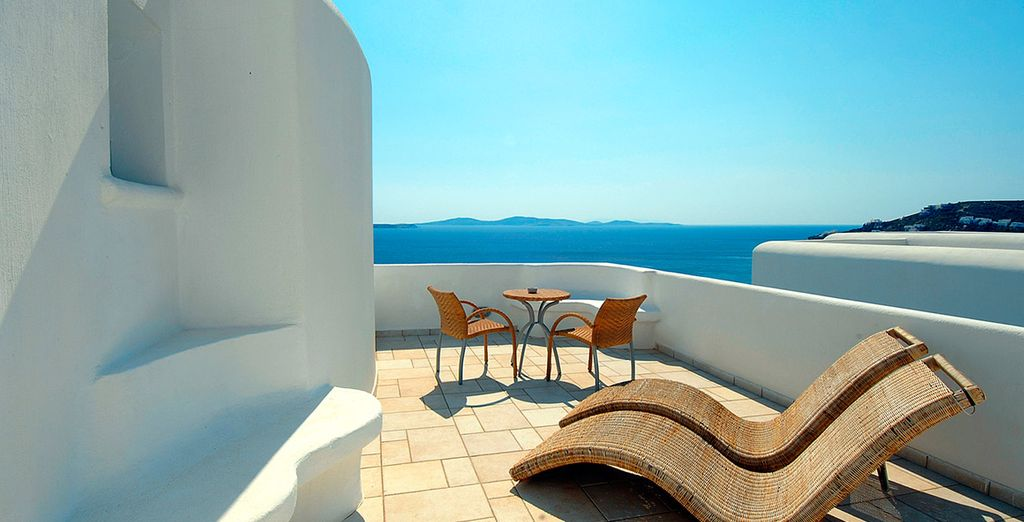 As well as a private balcony