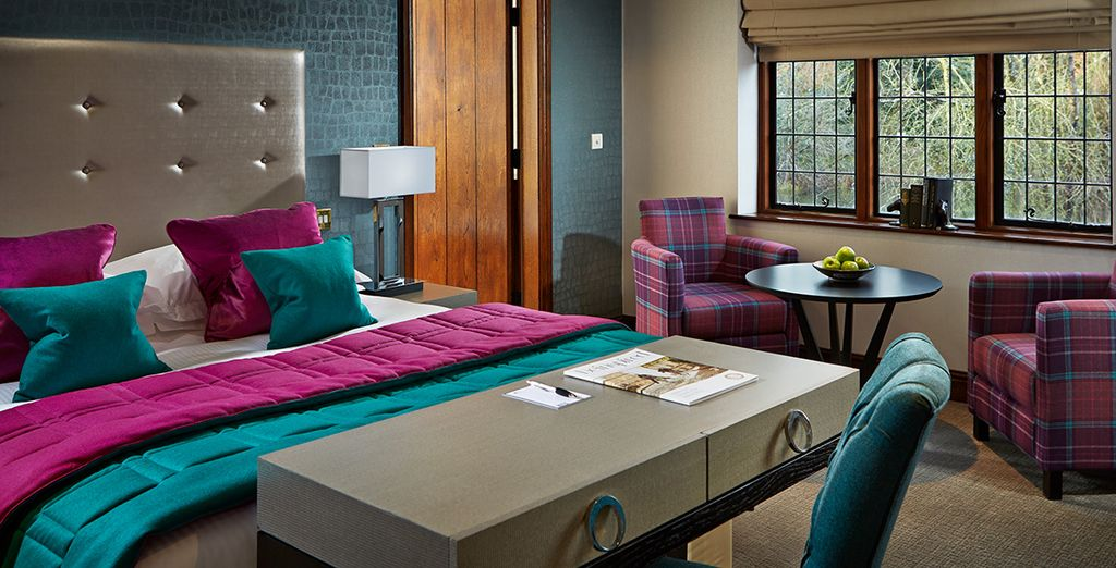 Your luxury room promises a restful and refreshing night's sleep....