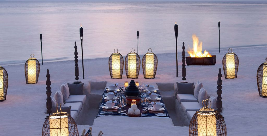 Perhaps dine on the beach to rekindle that spark