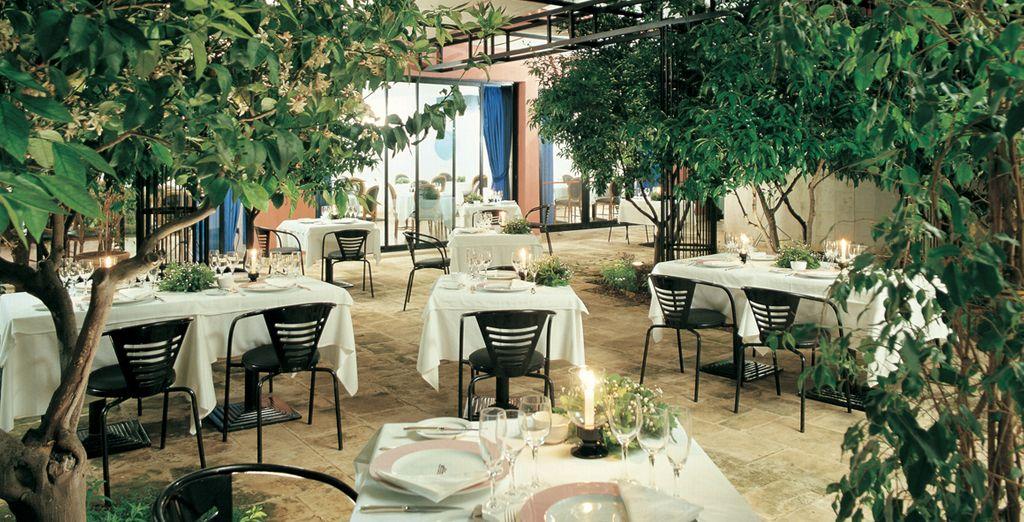 Dine al fresco like a true Italian during your half board basis