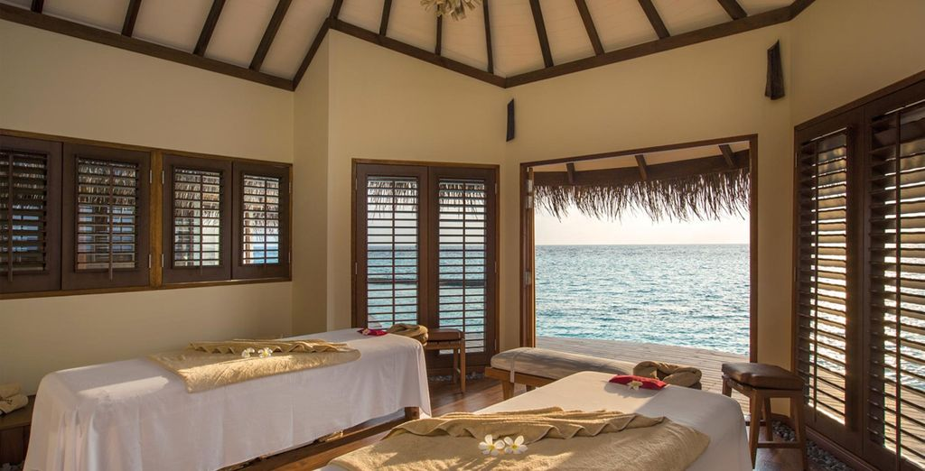 Don't miss the overwater spa, for true relaxation