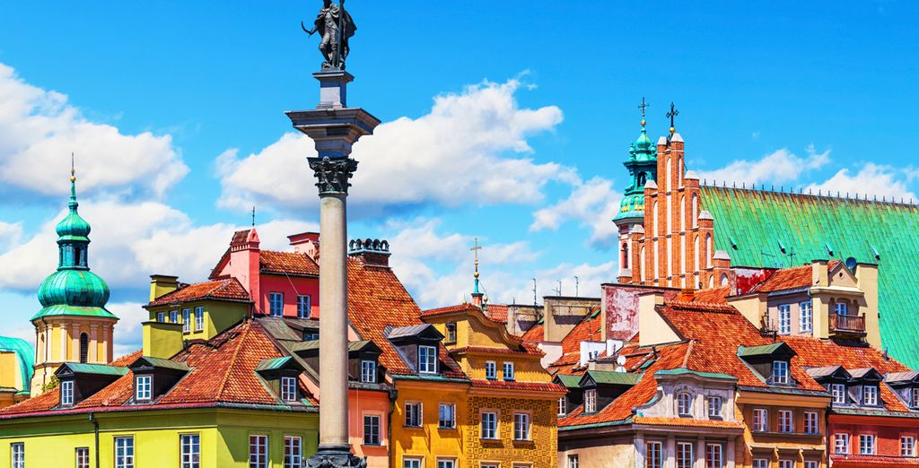 In the colourful city of Warsaw