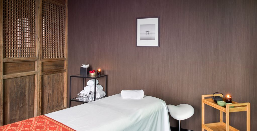 Or head to the massage room where you can relax and indulge