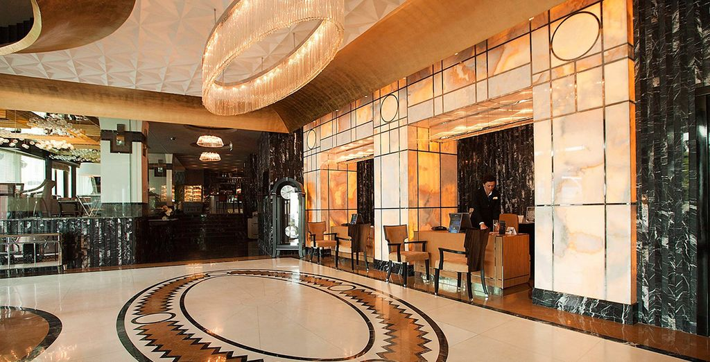 At a wonderful Art Deco-style hotel