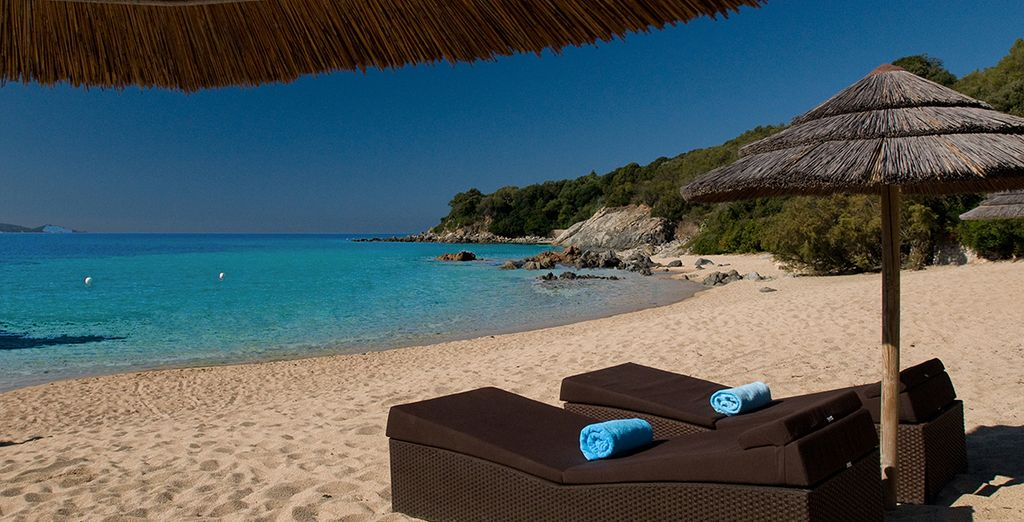 Relax on the beach - one of the best on the island