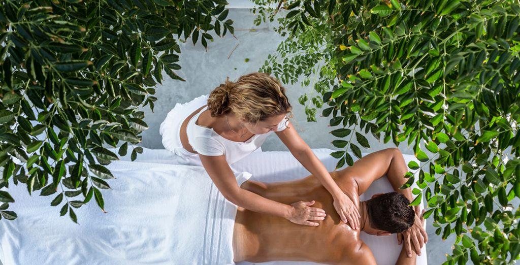 Enjoy spa treatments