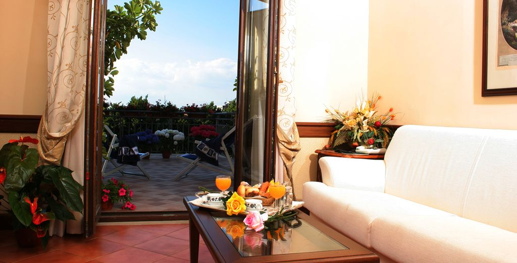 Why not upgrade to a room where you will have your own private balcony?