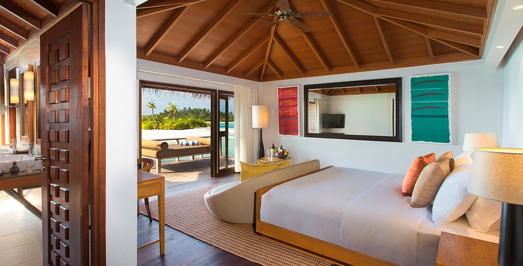 In your spacious Superior Overwater Bungalow