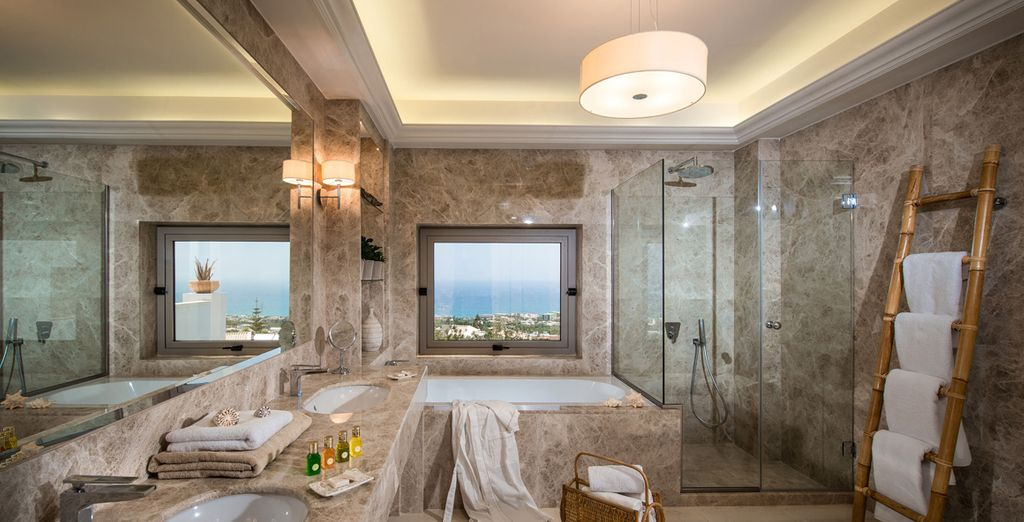 And a richly appointed bathroom