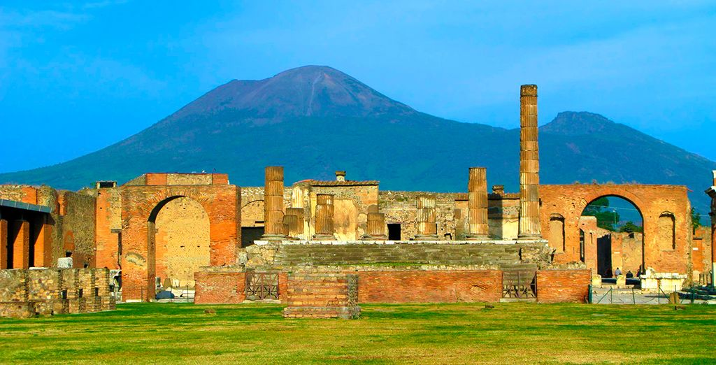 Visit the ancient ruins of Pompeii - just 15 minutes away