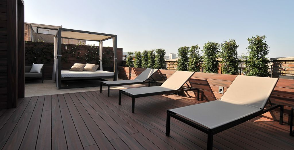 In spring & summer, soak up some Spanish sun on the 10th floor terrace