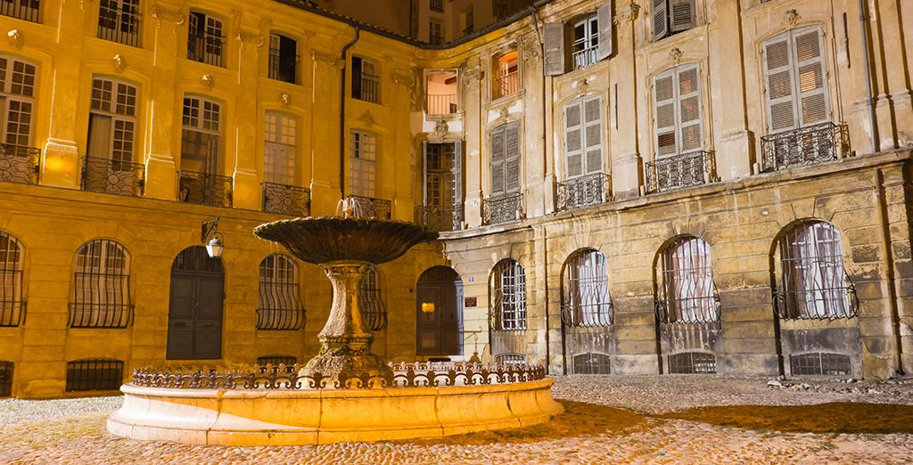 You will stay in the romantic city of Aix-en-Provence