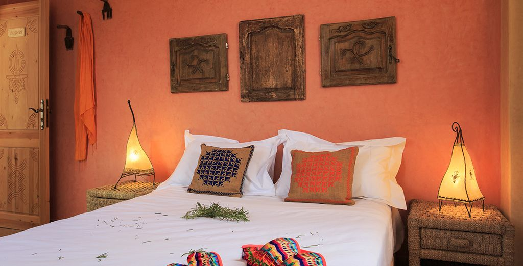 With authentic colourful decor