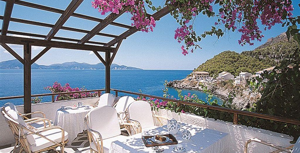 Enjoy a refreshing breakfast on the balcony
