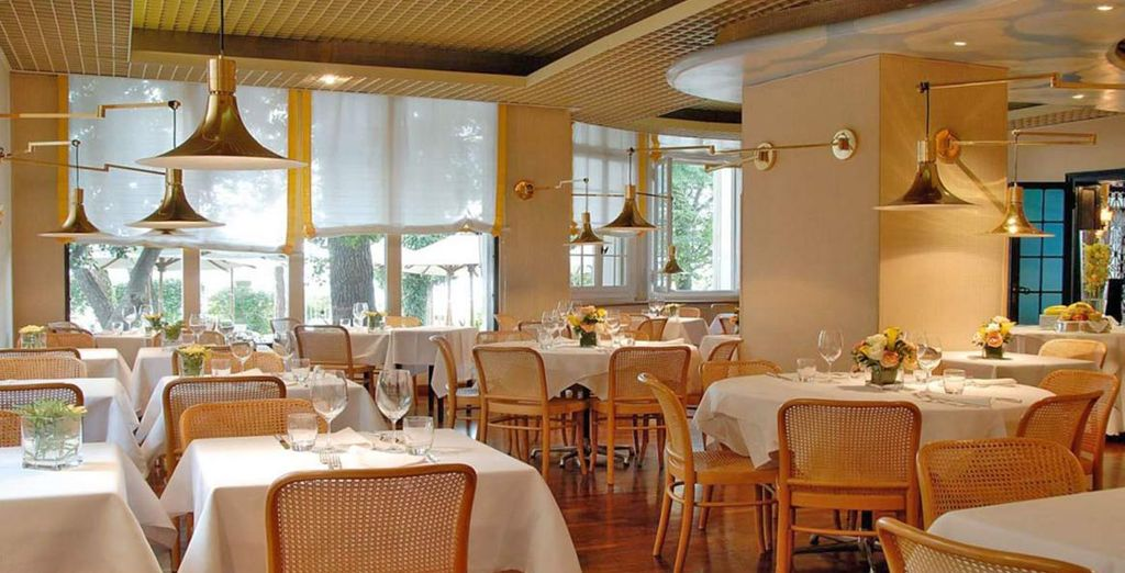 In the evening, indulge in traditional Italian  cuisine at the restaurant
