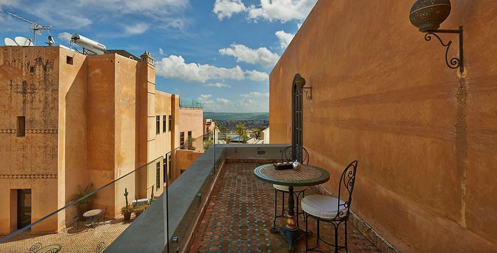 Watch the world go past on your private terrace
