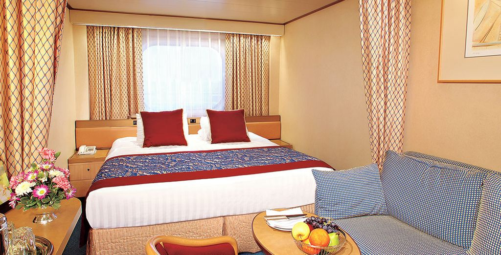 With a choice of cabins to suit your budget