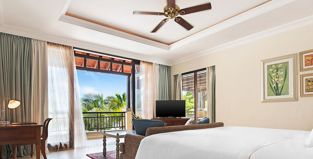 Stay in a spacious and sophisticated Junior Suite
