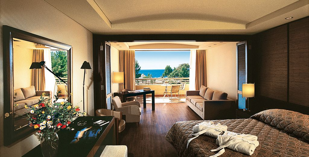 Or upgrade to a Junior Suite with a marina or sea view