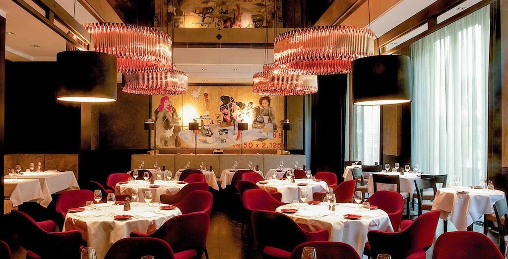 Which served up in one of the hotel's trendy restaurants