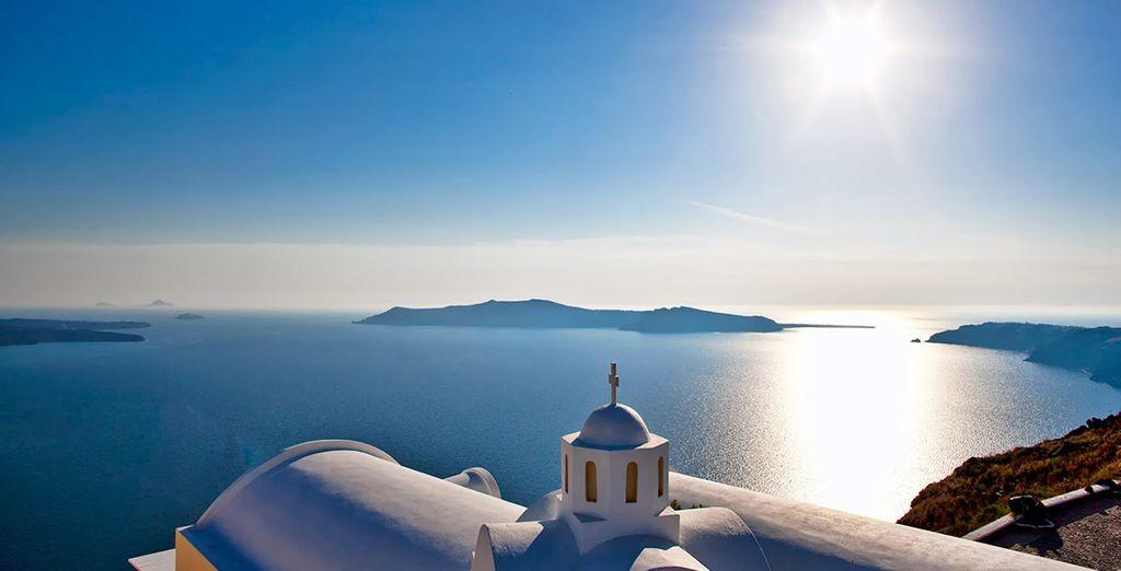 The azure Aegean waters await - Greek Island Hopping 4* Fira