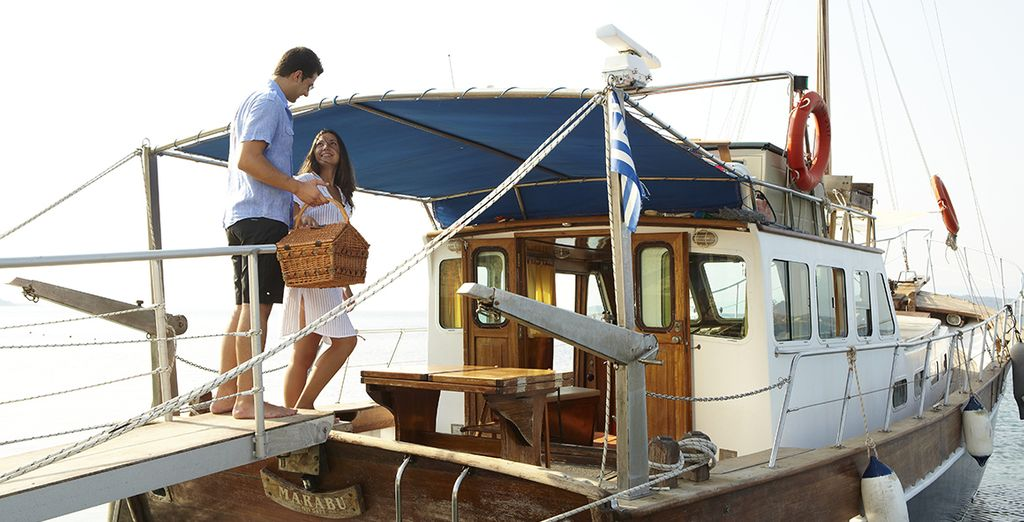 Why not take a leisurely boat trip with a picnic?